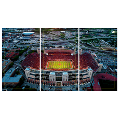3 Panel Memorial Stadium Stretched Canvas Print-EAST Stadium