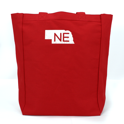 Nebraska Honestly, It's Not for Everyone Red Canvas Tote Back