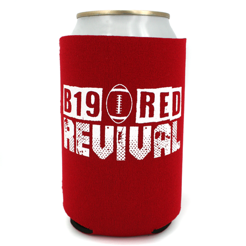 2019 Nebraska Schedule Red Can Koozie with Can