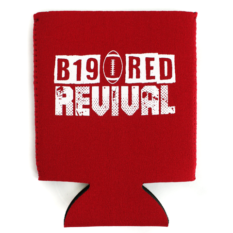 2019 Nebraska Schedule Red Can Koozie