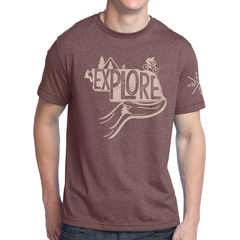 Explore Nebraska T-Shirt Red Brown Heather