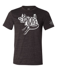 Explore Nebraska T-Shirt Charcoal- SS