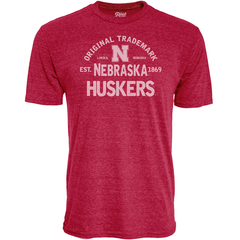 Men's Tri-Blend Nebraska Huskers Original Trademark Red T-Shirt