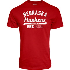 Nebraska Huskers Est. 1869 Red T-Shirt