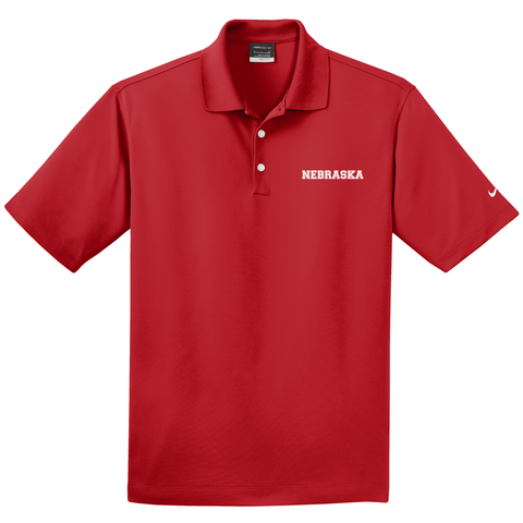 Men's Nebraska Nike Golf Red Polo