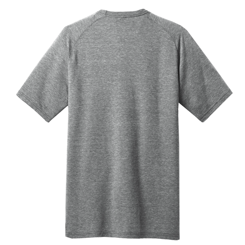 Men's Lincoln Heather Grey Pocket Tee Back