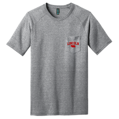Men's Lincoln Heather Grey Pocket Tee
