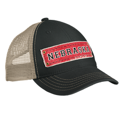 Men's Nebraska Patch Snap-Back Hat Side