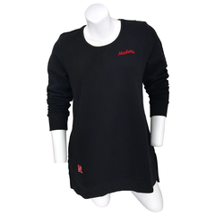 Women's Huskers Quilted Pocket Black Tunic