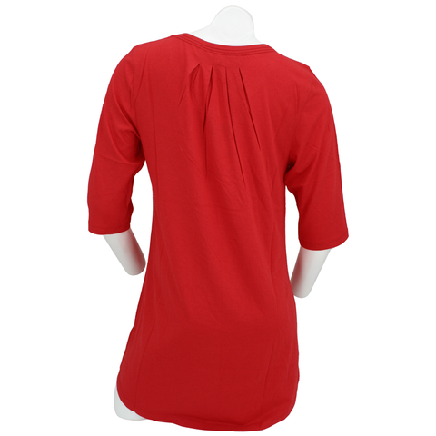 Women's Nebraska Tunic w/Sharkbite Hem-Red Back
