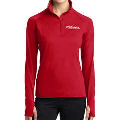 Women's 1/4 Zip Nebraska Red Jacket Model