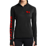 Ladies Nebraska Stretch 1/4 Zip Pullover-Black Model