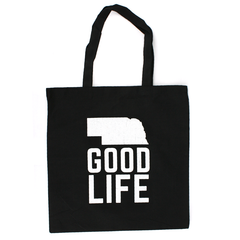 Good Life Cotton Canvas Tote-Black