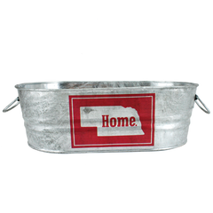 Nebraska Home Galvanized Oval Container Tub