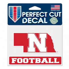 Nebraska Football State Decal