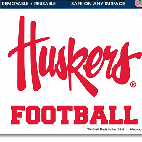 Huskers Football Multi-Use Reusable Decal Detail