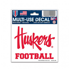 Huskers Football Multi-Use Reusable Decal