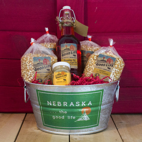 Nebraska Popcorn Party Tub