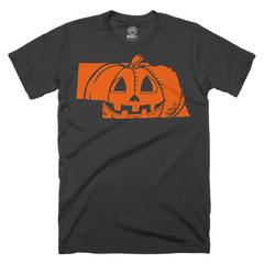 Men's Nebrask-O-Lantern Cotton Halloween Tee-SS-Black