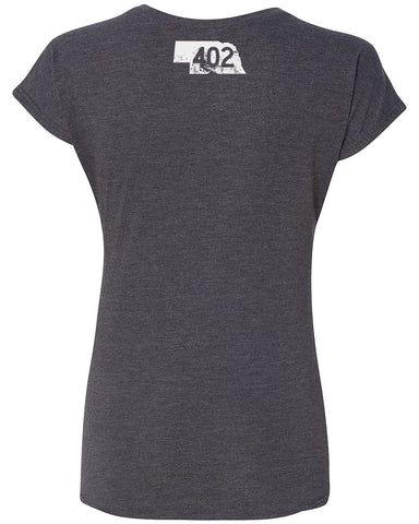 Homeaha Women's Triblend - SS -  Charcoal
