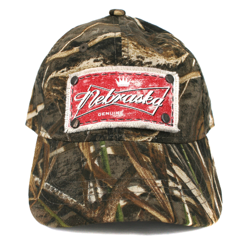Men's Realtree Camo Nebraska Patch Hat Front