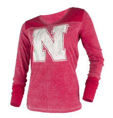 Women's Goal Line Top - LS - Red