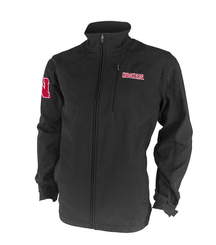 Nebraska Fullback Full Zip Jacket - Black - LS