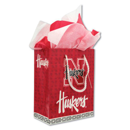 Medium Red Cornhuskers Gift Bag