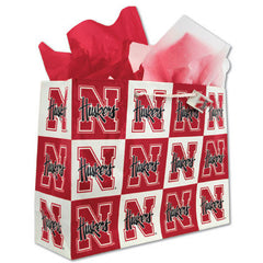 Nebraska Huskers Christmas Gift Bag