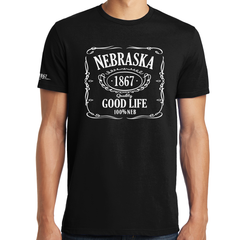 Men's Nebraska The Good Life Est. In 1867 Black T-Shirt