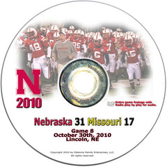 Nebraska Beats Missouri 2010 Football Game DVD