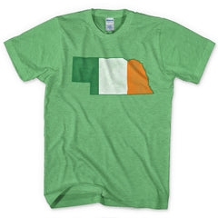 ONLY 1 LEFT! Irish Nebraskan Flag Tee - Green - SS