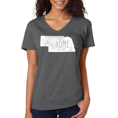 Womens Nebraska Home Tee V Neck