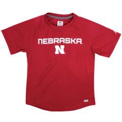 Youth Husker Power Performance Tee by Russell - Red - SS