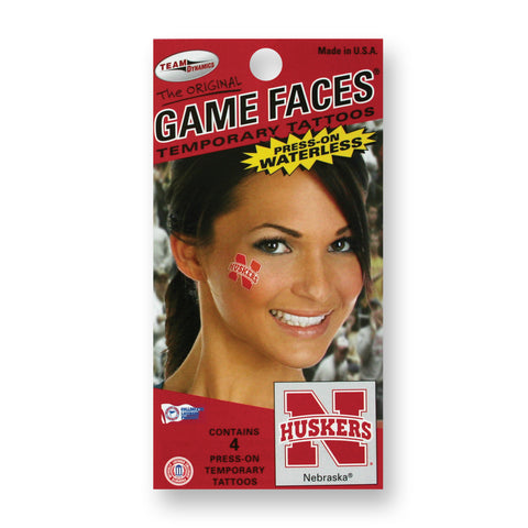 Huskers Game Day Womens Temporary Tattoos