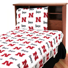 Nebraska Huskers Bedroom Decor Sheets