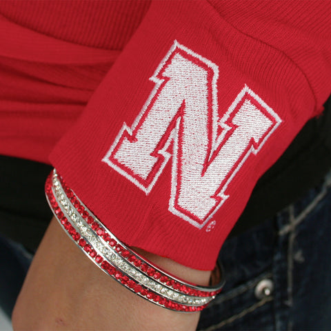Husker Spirit Sparkle Bangle Bracelet