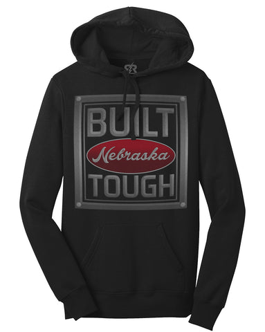 Built Nebraska Tough Hoody by RZR - Black - LS