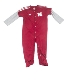 Nebraska Kids Footed Player Red Adidas Coverall