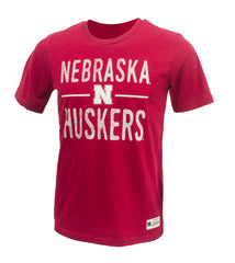 Youth Nebraska Huskers Descendant Tee by Adidas - SS - Red
