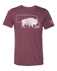 Nebraska Buffalo Roam Men's - Cardinal - SS