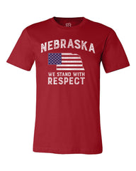 Nebraska Stand With Respect Tee - Red - SS