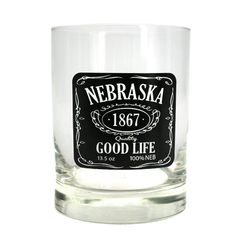 Nebraska Good Life Double Old Fashioned Glass