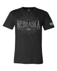 Nebraska Arrow Mens - Black - SS