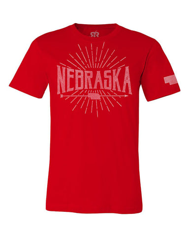 Nebraska Arrow Mens - Red - SS