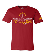 Nebraska Chimney Rock Tee - Red - SS