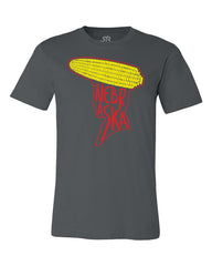 Nebraska Cornhead Tee by RZR - Grey - SS