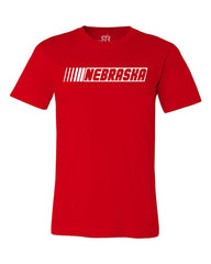 Nebraska Racing Tee - Red - SS