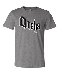 Men's Retro Omaha Tee By RZR - SS - Deep Heather