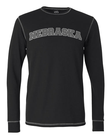 Men's Nebraska Thermal by RZR - Black - LS